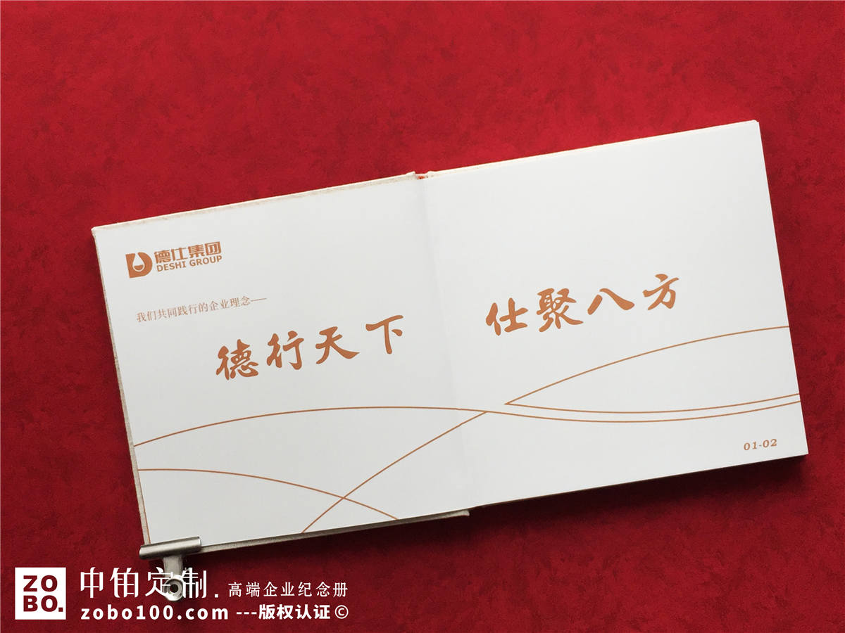 企业大事记纪念册-为5年来公司重大活动做工作纪实留念宣传画册